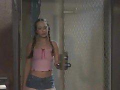Jamie Elle in the locker room
