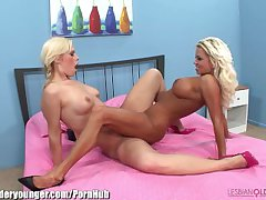 LesbianOlderYounger MILF Tribs and Toys Teen