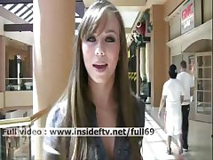 Capri _ Amateur babe flashing her tits and ass in public
